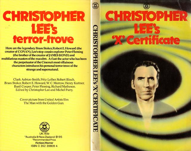christopher lee's x certificate
