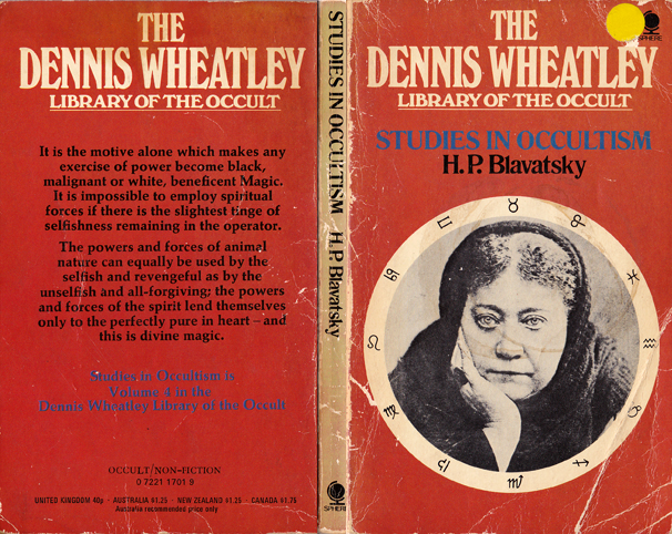 blavatsky, studies in occultism, sphere, dennis wheatley library of the occult, volume 4