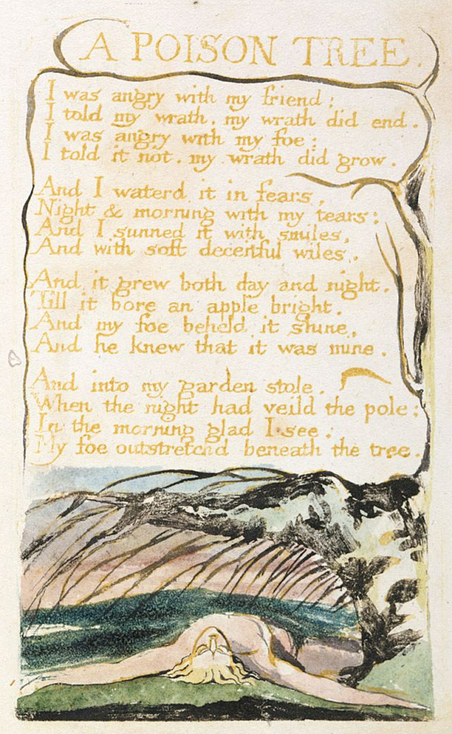William Blake, A Poison Tree