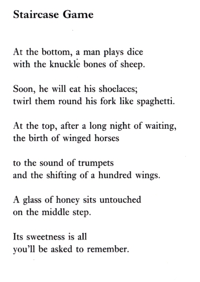 Helen Ivory, Poem, Staircase Game, Breakfast Machine