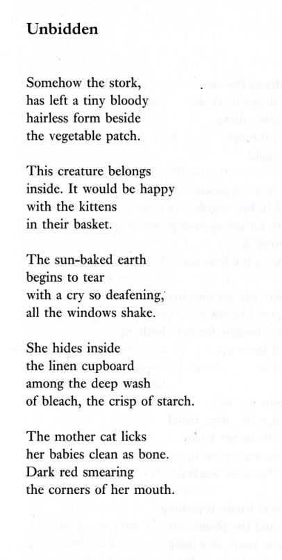 Helen Ivory, Poem, Unbidden, Breakfast Machine