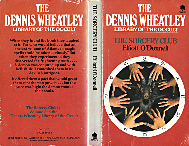 THE SORCERY CLUB, ELLIOTT O'DONNELL, DENNIS WHEATLEY LIBRARY OF THE OCCULT 6