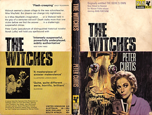 The Witches, Peter Curtis, 1966, Pan X591, whenchurchyardsyawn.com