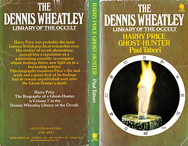 harry price gost hunter, paul tabori, dennis wheatley library of the occult 7, whenchurchyardsyawn