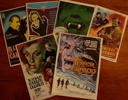 Spanish Horror Film Handbills - When Churchyards Yawn