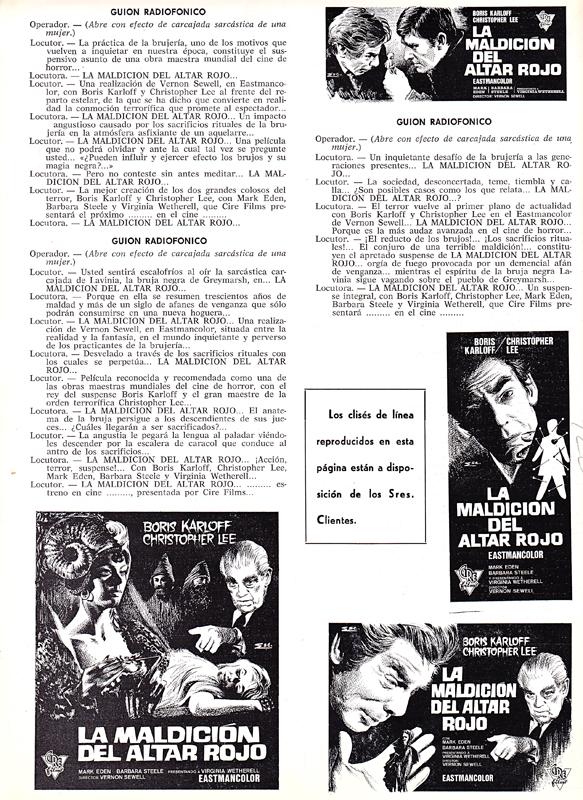 curse of the crimson altar - spanish pressbook back - whenchurchyardsyawn