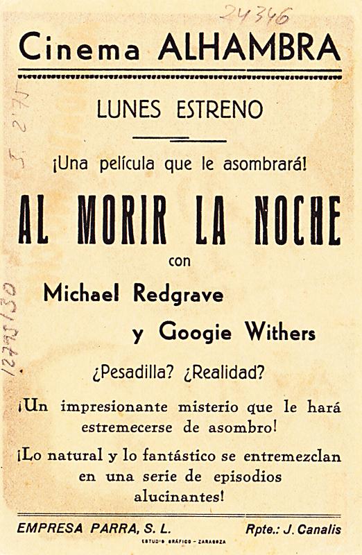 dead of night - spanish handbill 1 back - whenchurchyardsyawn