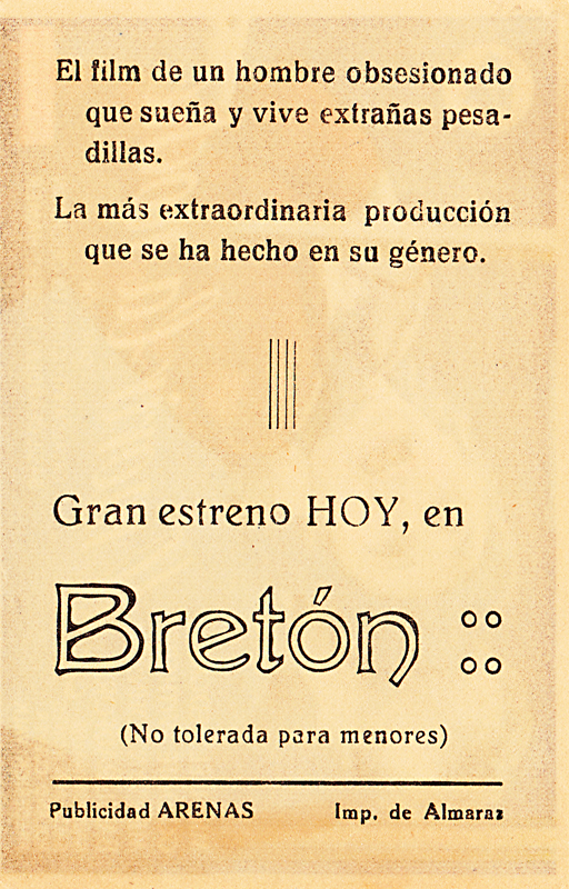 dead of night - spanish handbill 2 back - whenchurchyardsyawn