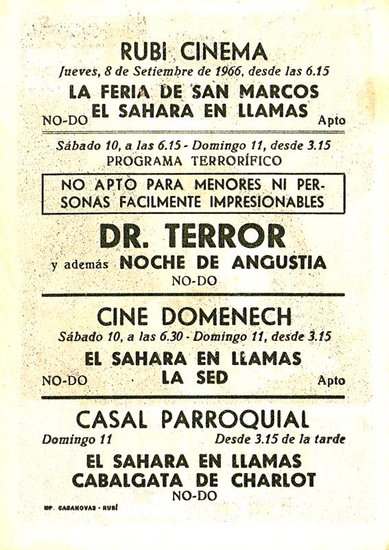 dr terror's house of horrors - spanish handbill back - whenchurchyardsyawn