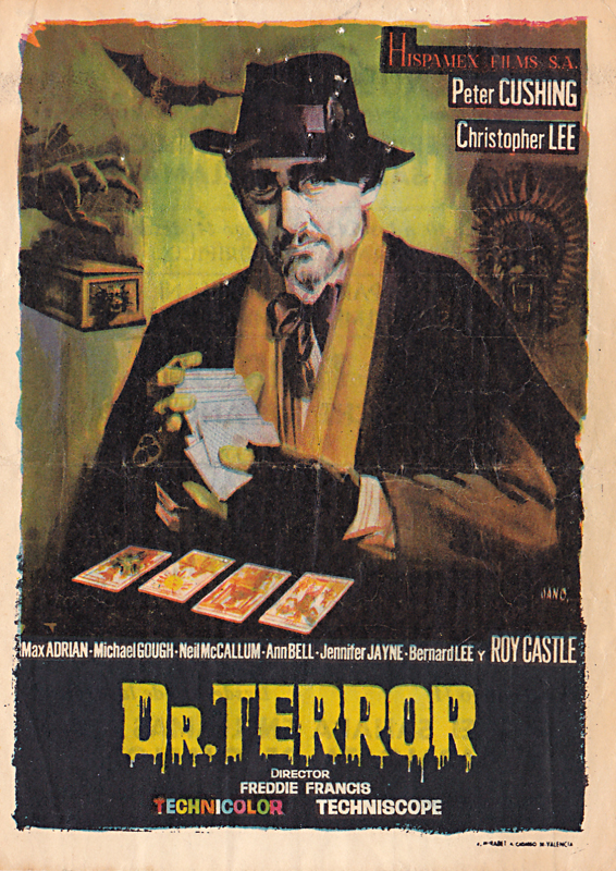 dr terror's house of horrors - spanish handbill - whenchurchyardsyawn