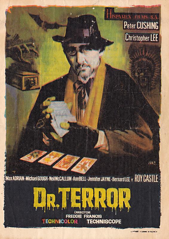 dr terror's house of horrors - spanish handbill - whenchurchyardsyawn