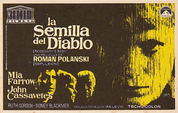 rosemary's baby - spanish handbill - whenchurchyardsyawn